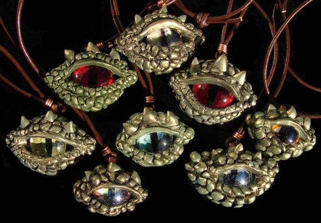Dragon-eye Amulets by Jenny Wren