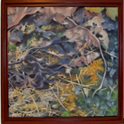 Strewn Rhubarb Leaves by Judith Kniffin